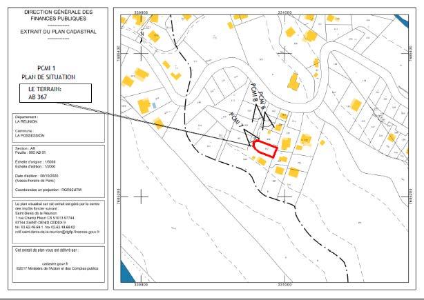 PCMI 1 : plan de situation du terrain
