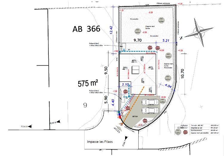 PCMI 2 : plan de masse des constructions à édifier ou à modifier
